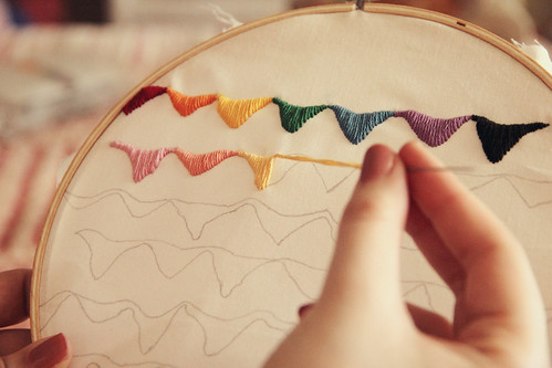 Embroidery at bedtime