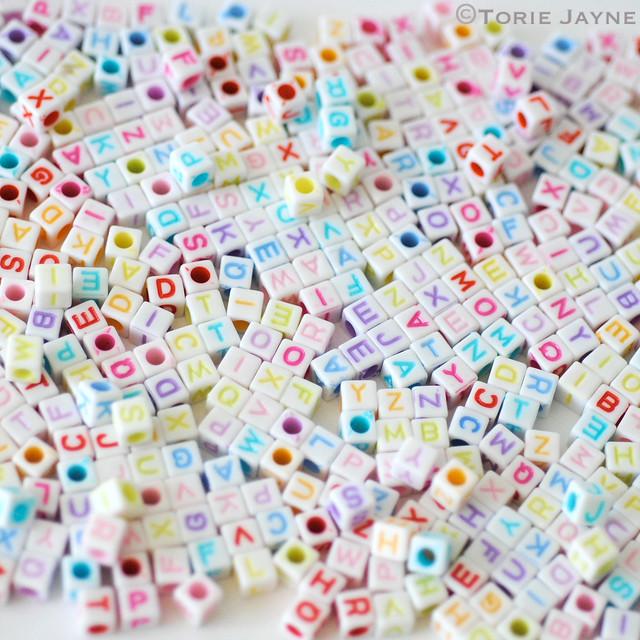 Alpha cube beads