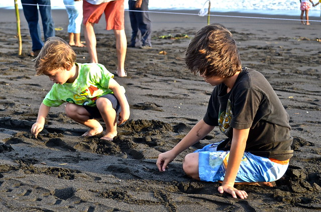 Black, Volcanic Sand fun at Monterrico Beach