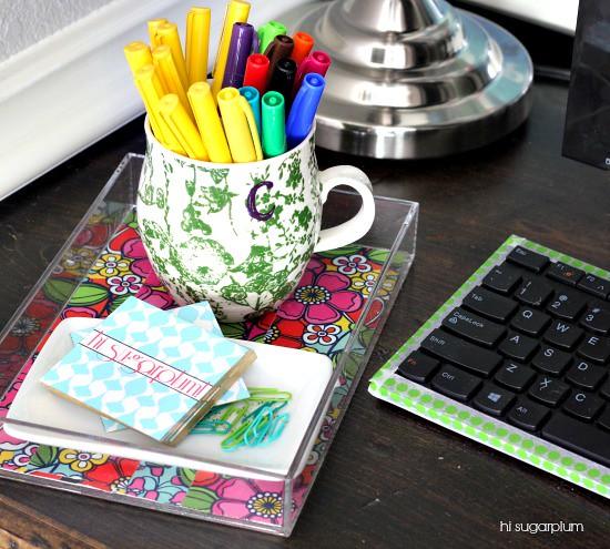 Hi Sugarplum | Organized Desk Nook
