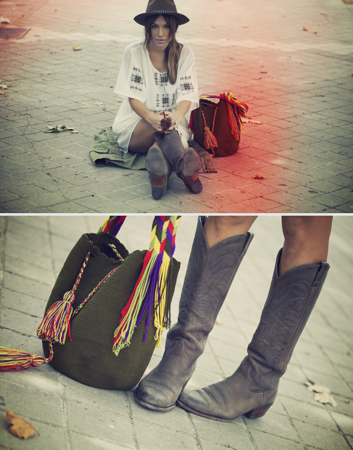 street style barbara crespo easy and comfy outfit sheinside dress sendra boots