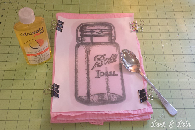 Dye & transfer tea towels with Rit & Citrasolv by Lark & Lola