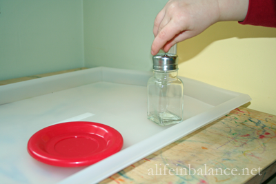 Montessori Preschool: Fine Motor Activities - Pins in Jar