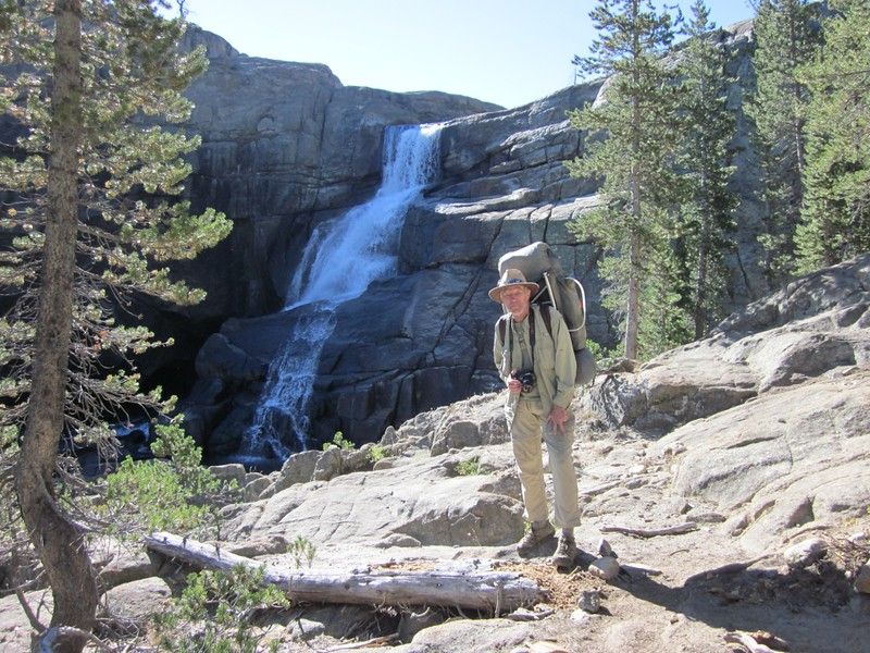 Me posing in front of Tuolumne Falls on the Tuolumne River