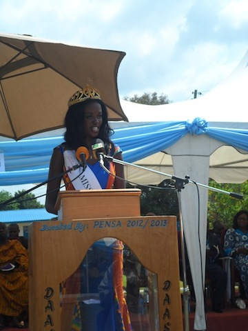 Miss Ghana 2013 inspires students of her alma mater