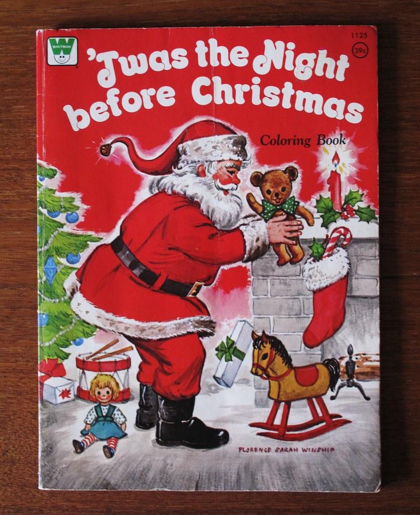 vintage whitman christmas coloring book 1973