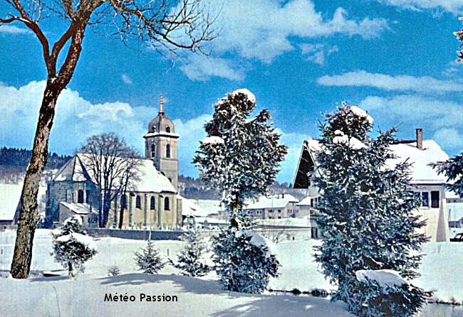 illustration des chutes de neige à Mouthe et dans le Jura fin novembre 1969 météopassion