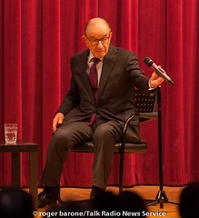 Alan Greenspan answers questiong at Philly Free Library