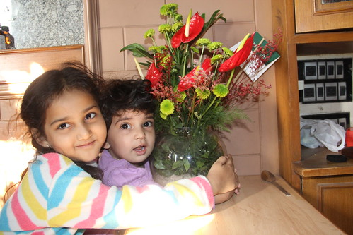 Saying It With Flowers ..My Grand Kids On My Birthday by firoze shakir photographerno1