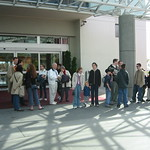 All of us lined up outside the hotel