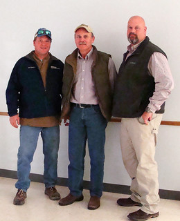 Picture of Nelson Crow, left and Matt Miles, right, with Paul Francis
