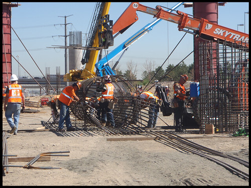Photo of construction on the Jersey Cutoff Bridge