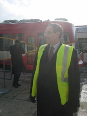 Mayor Vincent Gray taking part in a functional test along H/Benning.