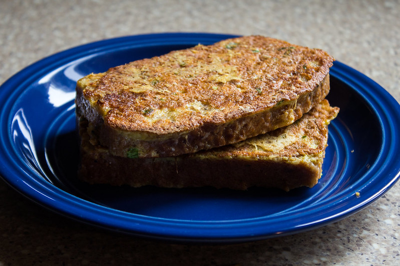 crispy, cheesy French toast