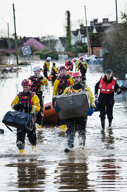 RNLI helping out in Moorland, Somerset