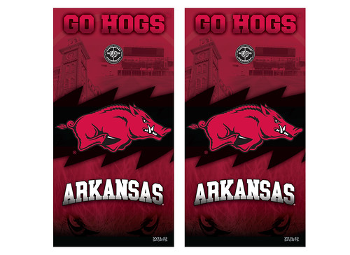 Arkansas Cornhole Game Decal Set