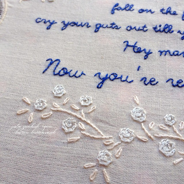 Eels Lyrics Embroidery FO