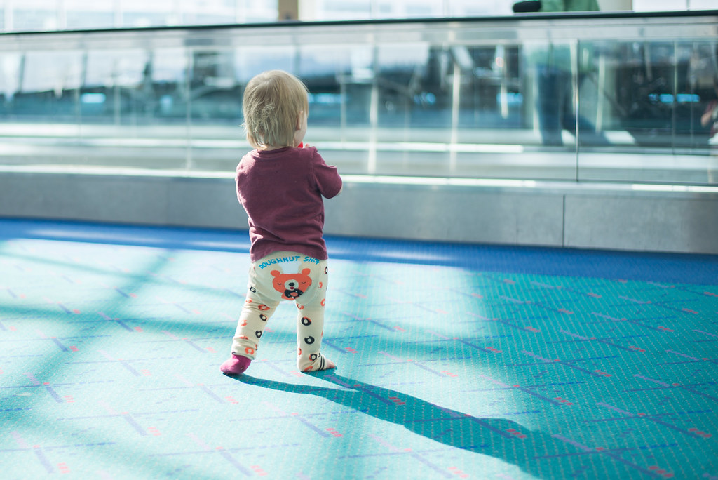 Reese Walking the Airport