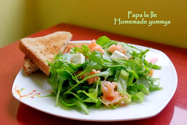 Salata cu somon afumat (4)