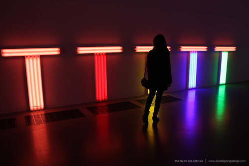 Colorful T lights at Tate