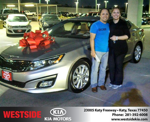 Thank you to Silvestre  Vazquez  on your new 2014 #Kia #Optima from Gil Guzman and everyone at Westside Kia! #NewCar by Westside KIA
