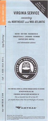 Amtrak Virginia Service 2014 Cover