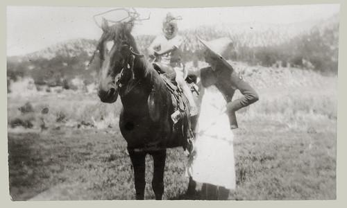 Child o a horse
