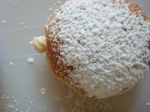 Homemade vanilla kreme donuts
