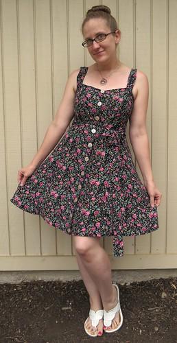 90s Floral Dress - After
