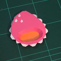 วิธีทำโมเดลกระดาษตุ้กตาคุกกี้รัน คุกกี้รสสตอเบอรี่ (LINE Cookie Run Strawberry Cookie Papercraft Model) 004
