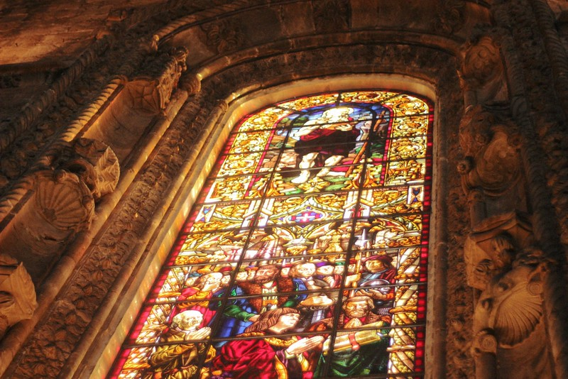 stained glass window church of santa maria