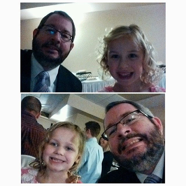 A thorn between two roses. Lauralea is sick so these two are my right and left table buddy's at the wedding reception.