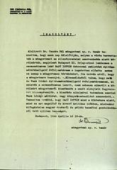 VI/1. Sajó István kérelme: mentesítő okiratot kér, mert a kivételezetteknek nem kellett a gettóba beköltöznie. 6.5_005