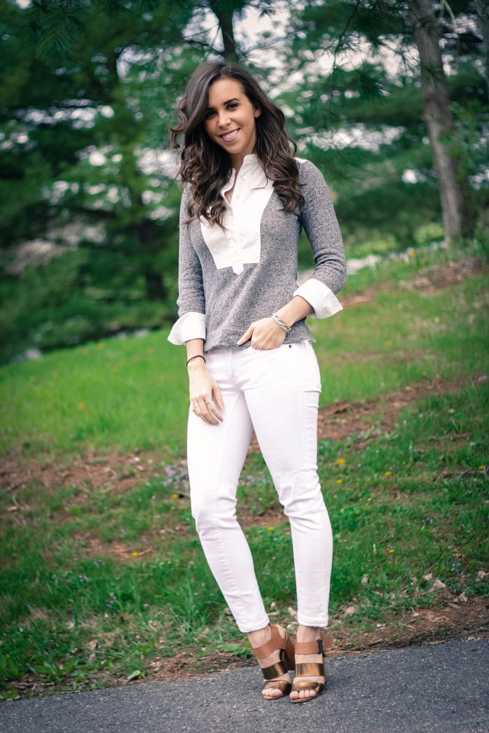 va darling. dc blogger. virginia personal style blogger. how to wear white jeans.  sam edelman yelena sandal  1
