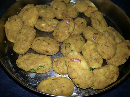 Raw Beef Cutlets before Deep-Frying in Coconut Oil, used in Kerala, India for cooking their dishes