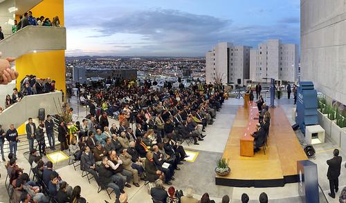 Gobernador FTF y Rector inauguran la 1ª. etapa del edificio de la Facultad de Ciencias de la UASLP