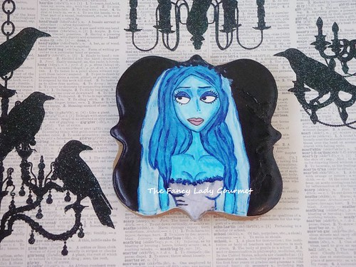 painted corpse bride cookie