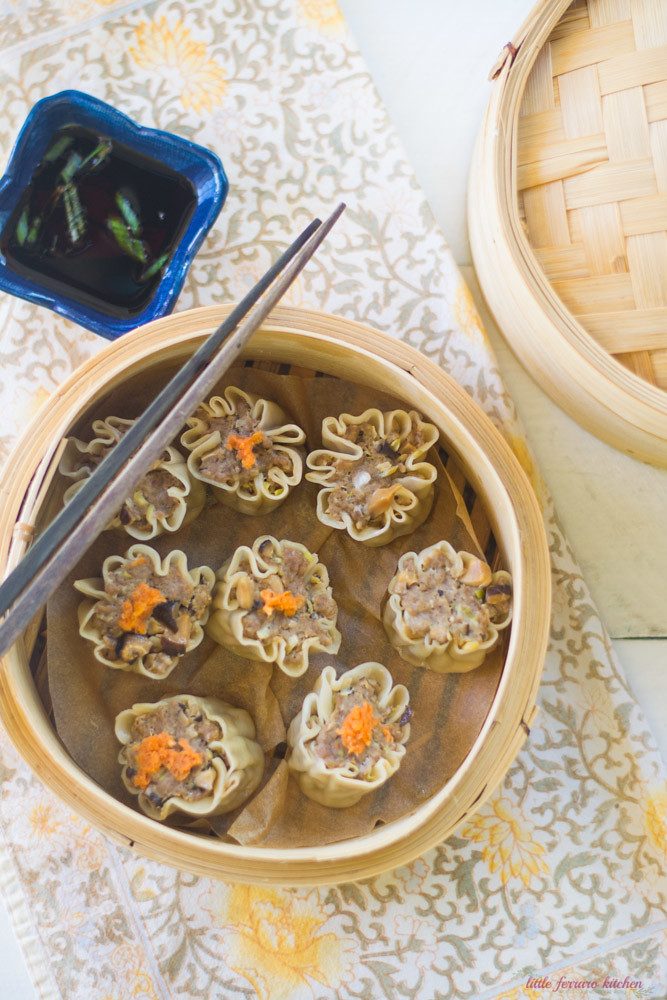 Pork and Mushroom Shumai via LIttleFerraroKitchen.com