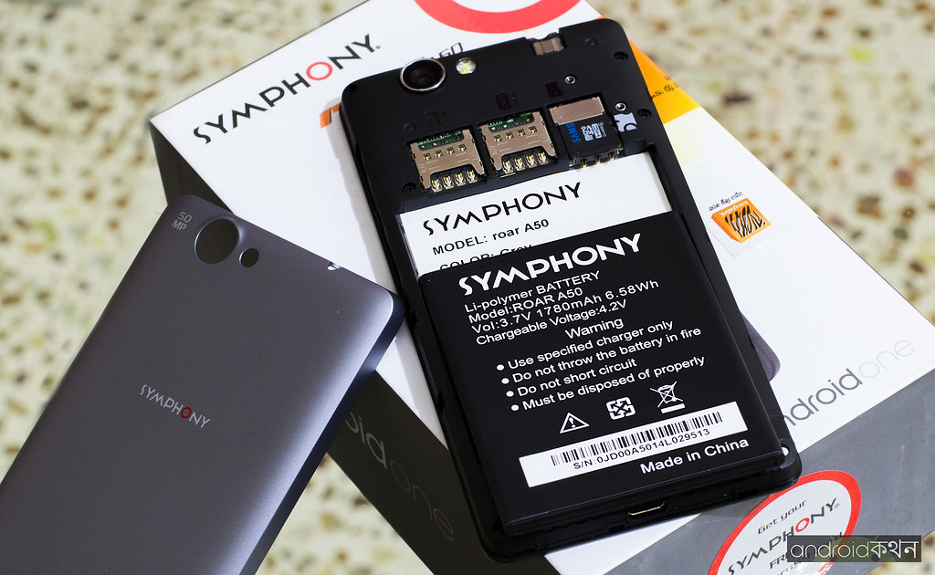 symphony android one roar a50 battery