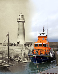 Merged old/new photographs - County Down