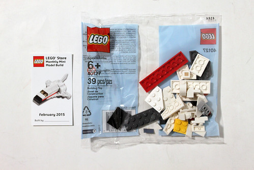 LEGO February 2015 Monthly Mini Build - Space Shuttle (40127)