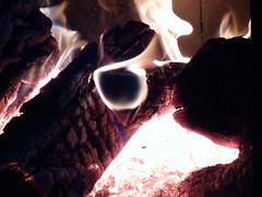 Égő tűzifa 1