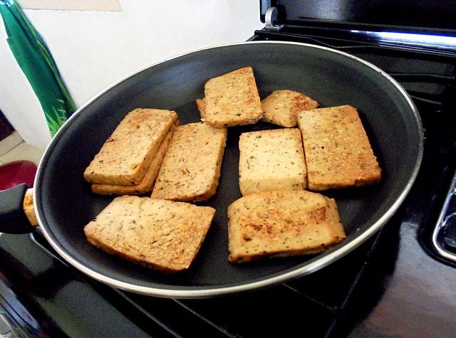 Pan-fried, dry