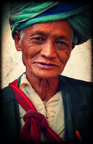 Tribal Elder at the Weekly Market on Inle Lake