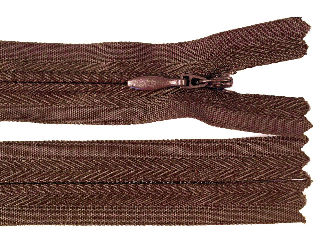 Reißverschluss 45cm, Braun