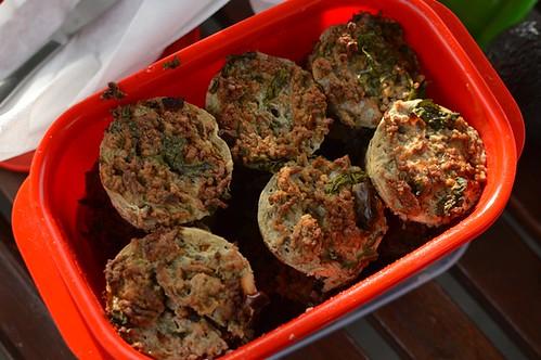 Beef & spinach muffins