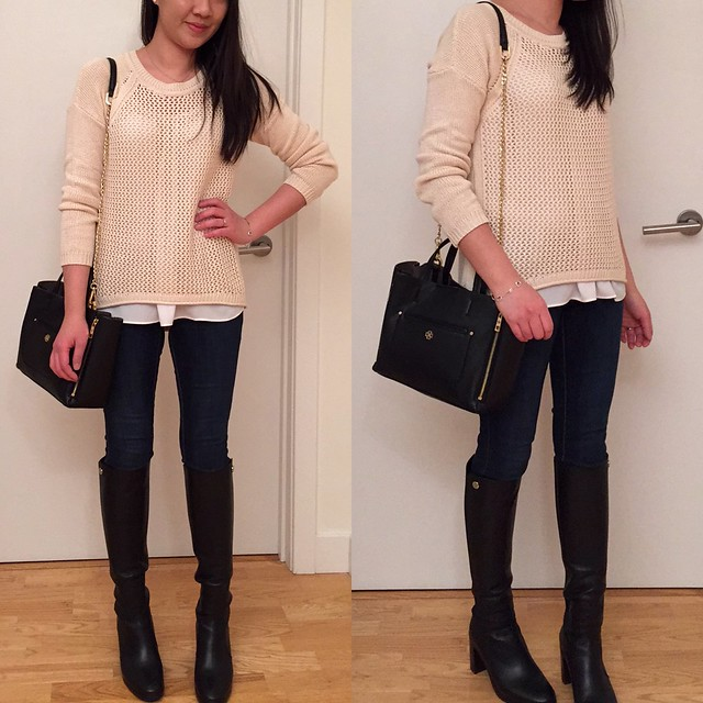 Forever 21 (LOVE 21) easy open-knit sweater, size XS