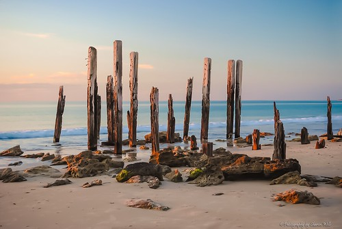 old beach port sticks ruins jetty south australia willunga greatphotographers
