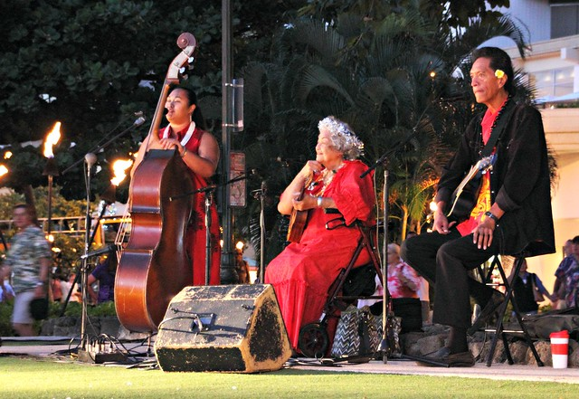 Hula Band at Waikiki Beach