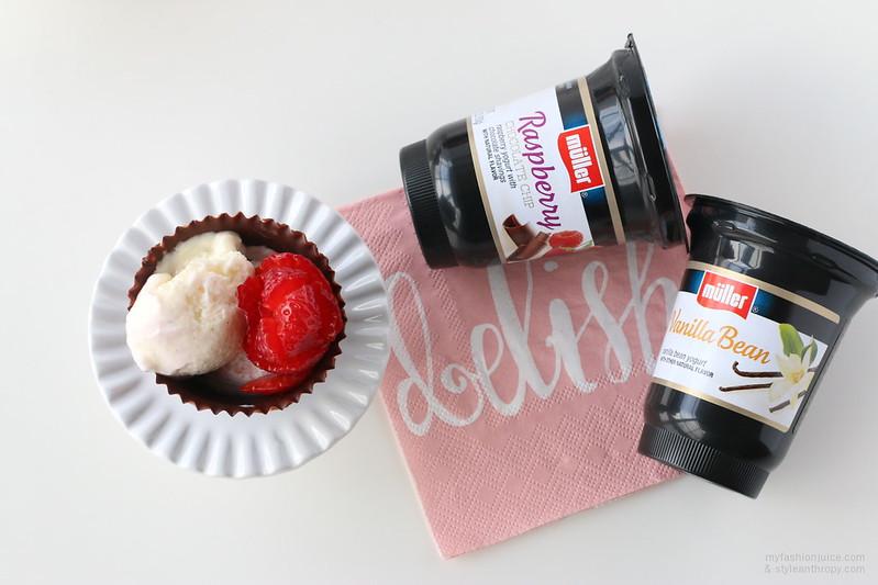 Muller Yogurt Filled Chocolate cups recipe #mullermoment #shop #cbiasMuller Yogurt Filled Chocolate cups recipe #mullermoment #shop #cbias